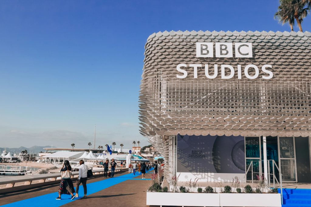 sustainable exhibition stand for BBC Studios in Cannes
