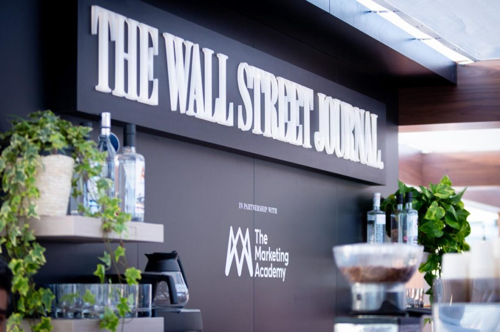 The Wall Street Journal custom branding inside experiential venue Journal House